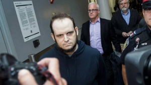 Joshua Boyle at Toronto's Pearson International Airport on Friday, October 13, 2017.