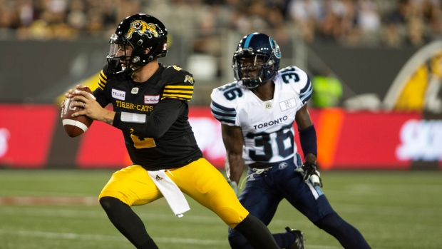Manziel sees first CFL action in Argos 36-18 exhibition win over ... 3529acf8c