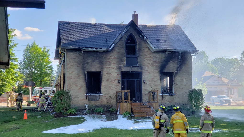 A home in Clifford after a fire