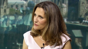 Foreign Affairs Minister Chrystia Freeland on CTV's Question Period on Sunday June 3, 2018. (CTV News)