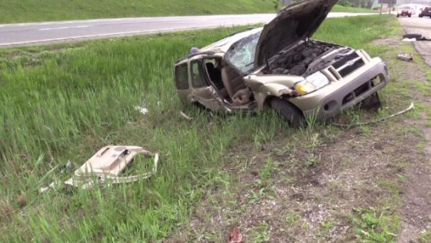 Three people injured in highway crash in Woodstock | CTV News Kitchener