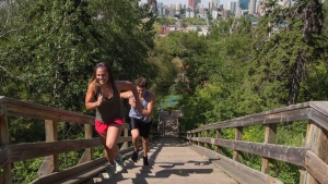The river valley in Edmonton, Alberta, is shown on Wednesday June 24, 2015. An idea to build a gondola over Edmonton's river valley is taking a step forward.THE CANADIAN PRESS/Amber Bracken