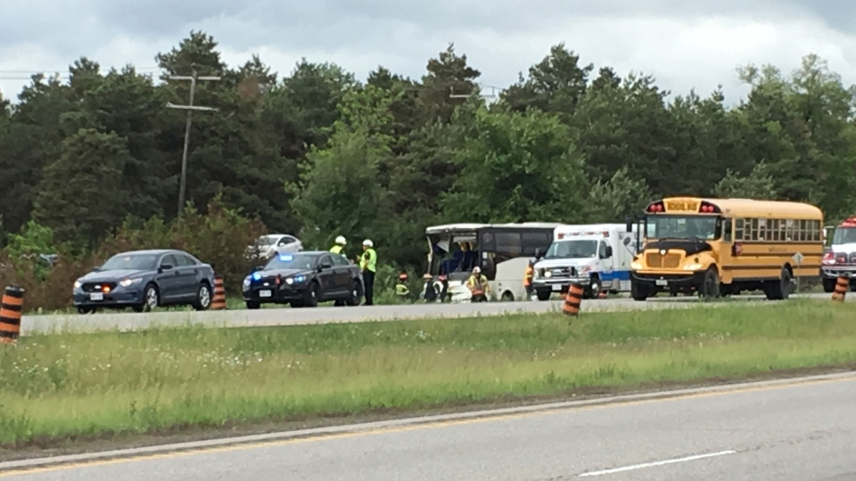 Bus crash near Prescott, Ont.