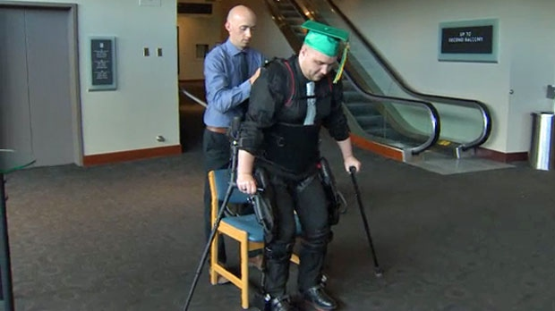 Paralyzed teen surprises classmates and staff by walking the