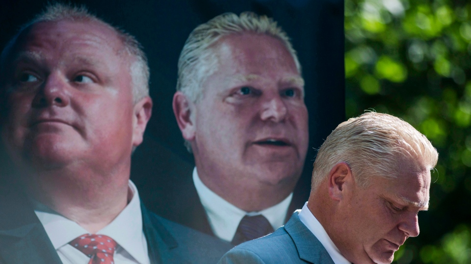 "Former Toronto city councillor Doug Ford announces he is publishing a book: ""Ford Nation, Two Brothers, One Vision: The True Story of the People's Mayor,"" at a news conference in Toronto, Tuesday, Sept.13, 2016. (THE CANADIAN PRESS/Christopher Katsarov)"