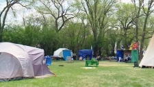 Campers handed eviction notice