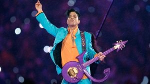 Prince performs during the halftime show at the Super Bowl XLI football game at Dolphin Stadium in Miami on Feb. 4, 2007.  THE CANADIAN PRESS/AP, Chris O'Meara