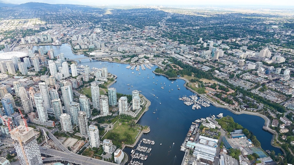 False Creek and skyline