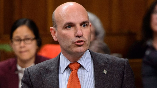 Then-NDP MP Nathan Cullen stands during question period in the House of Commons on Parliament Hill in Ottawa on Tuesday, June 5, 2018. THE CANADIAN PRESS/Sean Kilpatrick