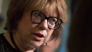 Minister responsible for Higher Education and Minister responsible for the Status of Women Helene David responds to a reporter's question period Wednesday, May 16, 2018 at the legislature in Quebec City. (THE CANADIAN PRESS/Jacques Boissinot)