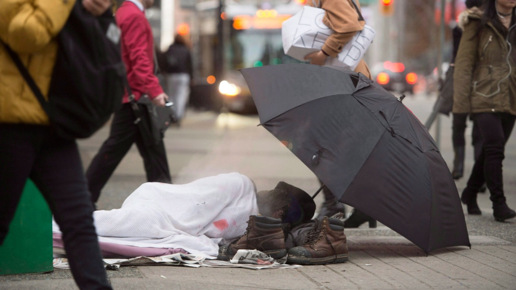 Vancouver homeless population