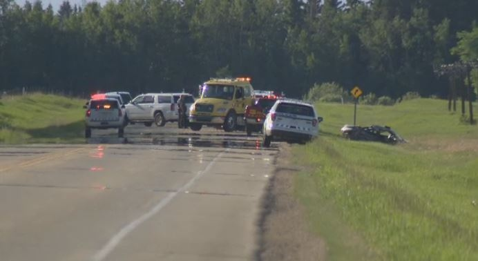 Five people were killed in this crash on Hwy 2A & Township Rd 472, about 5 km south of Millet.