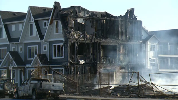 Cochrane Townhouses Completely Destroyed In Early Morning
