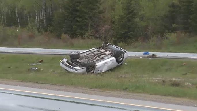 A single-car collision near North Sydney, N.S. claimed the life of one person and sent another to hospital on June 6, 2018.