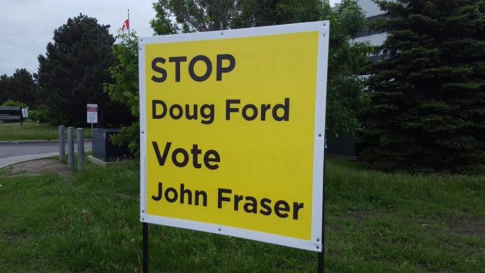 Lawn sign for John Fraser in Ottawa-South (Twitter: John Fraser)