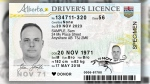 The Alberta government released a preview of the new designs for the Alberta driver's licence. Supplied.