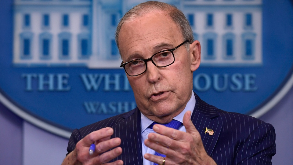 Senior White House economic adviser Larry Kudlow speaks during a briefing at the White House in Washington, Wednesday, June 6, 2018, on the upcoming G7 summit. (AP / Susan Walsh)