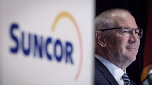Suncor president and CEO Steve Williams waits to address the company's annual meeting in Calgary, Wednesday, May 2, 2018. THE CANADIAN PRESS/Jeff McIntosh
