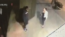 Security video of the suspect and victim on Ouellette Avenue in Windsor, Ont., on Tuesday, June 5, 2018. (Obtained by CTV Windsor)