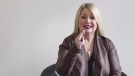 Jann Arden gestures during an interview in Toronto on Thursday, March 3, 2016. Canadian singer-songwriter Jann Arden is getting her own comedy series on CTV. THE CANADIAN PRESS/Christopher Katsarov