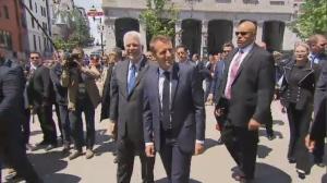 Macron and Couillard Montreal June 7