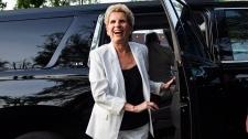 Ontario Liberal Leader Kathleen Wynne arrives