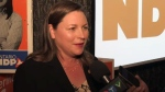 Waterloo MPP Catherine Fife speaks with CTV News after winning re-election.