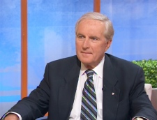 Roy Romanow, former premier of Saskatchewan and chair of the Institute of Wellbeing Advisory Board, speaks on CTV's Canada AM, Wednesday, June 10, 2009.