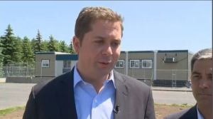 Scheer says there are people in refugee camps in Africa and the Middle East who are more deserving of being allowed to enter Canada. (CTV Montreal)