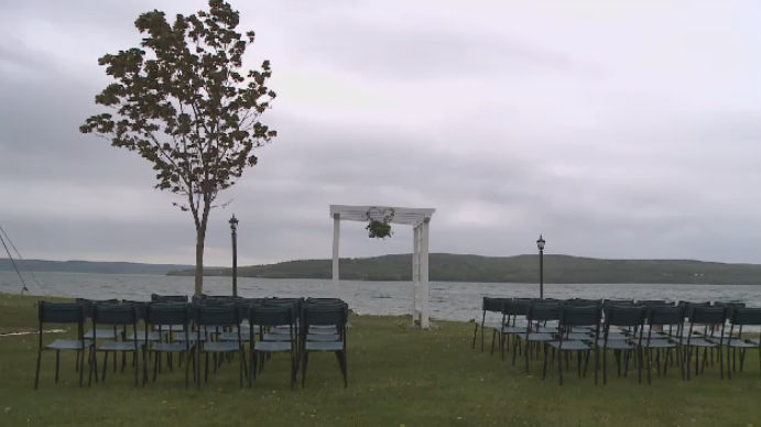 Cape Breton's historic Inverary Resort held a wedding Saturday as they pick up the pieces following Thursday's devastating fire.