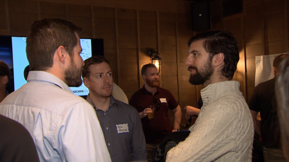 A Washington state-based group called Cascadia Rail has opened a Vancouver chapter. Members hope that by working together they can make high-speed trains from Vancouver to Portland a reality.