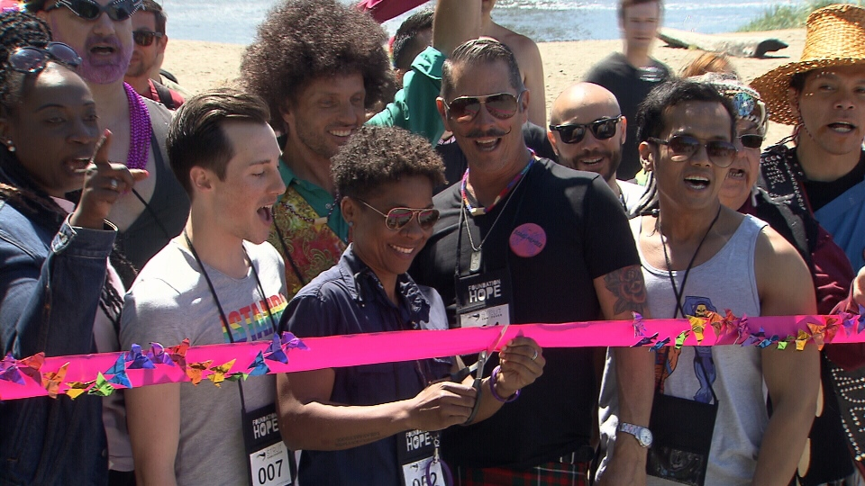 The walk supports LGBTQ refugees who may have faced persecution in their home countries because of their sexuality.