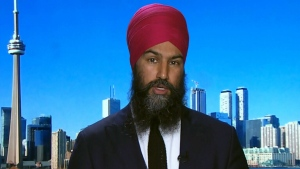 NDP Leader Jagmeet Singh on CTV's Question Period on Sunday June 10, 2018. (CTV News)