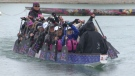 Members of the Sistership Dragon Boat Association braved the rainy weather on Sunday at the Glenmore Reservoir, trying to get another practice in before their big race next month in Florence.