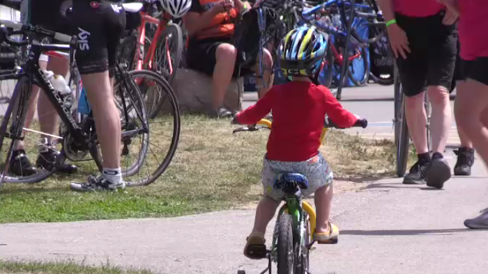 Thousands came out to participate in rides of all lengths and difficulties for the Cambridge Tour de Grand.