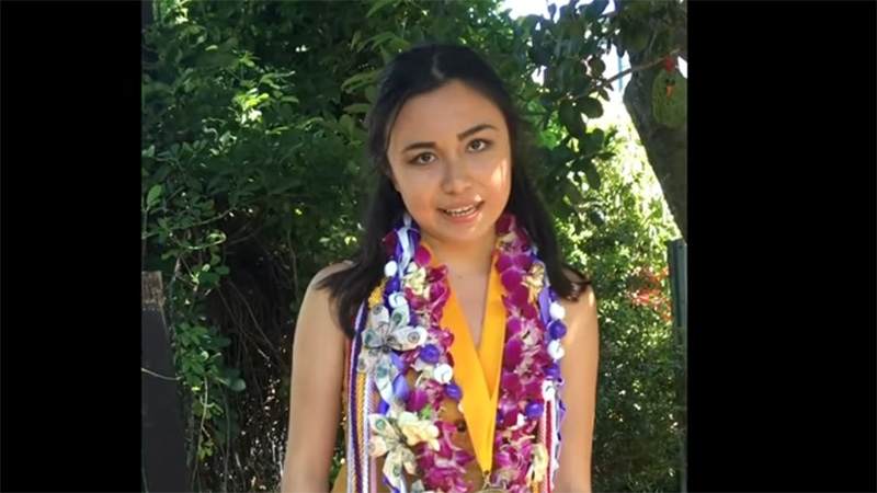 Lulabel Seitz said she was appalled the microphone was muted during her June 2 valedictorian speech. (Photo: YouTube/Lulabel Seitz)