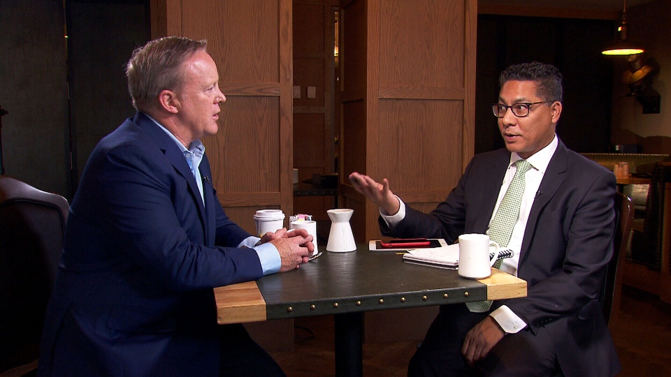 Former White House spokesman Sean Spicer sat down with CTV's Richard Madan for a wide-ranging interview.