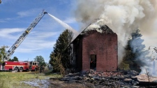 kanata farmhouse  fire