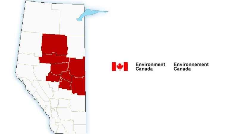Environment Canada wind/Rainfall warnings