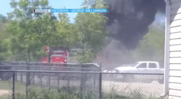 Car fire on Manitoulin Island