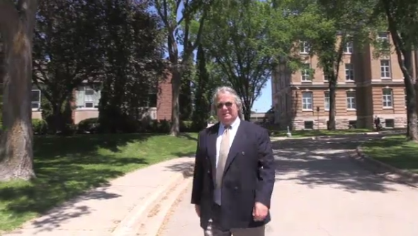 Mike Figliola leaving a Sault Ste. Marie court