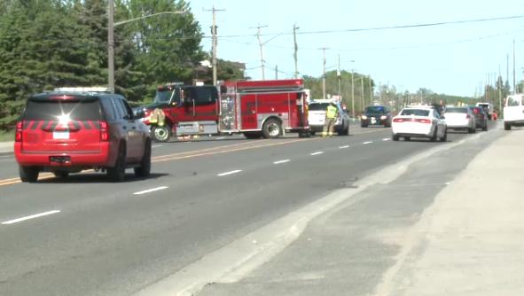 Sudbury crash scene on Falconbridge Road