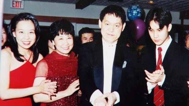 Dr. Alphonsus Hui (second from right) is seen with his family in an undated photo.