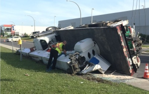 According to Montreal police, the incident occurred around 6:30 a.m. on Isabey St. and Cote-de-Liesse. (CTV Montreal)
