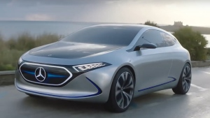 German luxury car manufacturer Mercedes has been showing off a small electric car concept, the EQA, in a new video that takes us on a drive with an Italian landscape as the backdrop.
