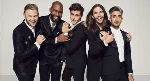 Porowski (Center) is flanked by his Queer Eye castmates (from L to R) Bobby Berk, Karamo Brown, Jonathan Van Ness and Tan France. (Photo courtesy of IMDB)