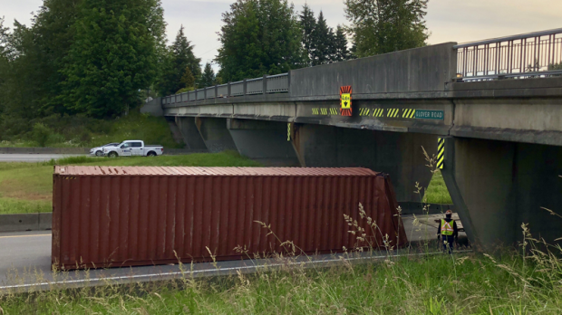 Semi-truck crash