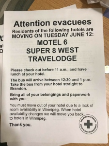 Letter to evacuees
