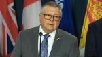 Minister of Public Safety Ralph Goodale makes an announcement on cyber security on Tuesday, June 12, 2018.