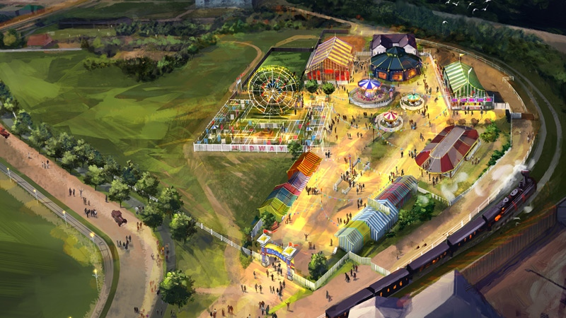 An artist's rendering shows the planned expansion for Fort Edmonton Park. Supplied.